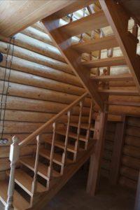 Интерьер деревянного дома из бревна внутри