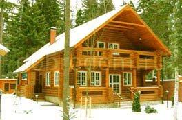 Деревянный рубленный двухэтажный дом 8х10